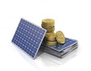 Solar Panel with Money