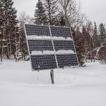Solar Panel in Winter-SolarSunSurfer.co